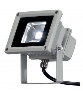LED OUTDOOR BEAM, GRIS ARGENT, 10W, 5700K, 100DEG, IP65