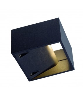 LOGS WALL APPLIQUE, CARREE, ANTHRACITE, 7.5W LED, 3000K