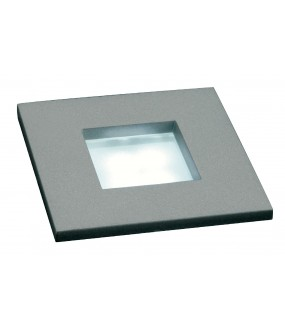MINI FRAME LED ENCASTRE, CARRE, GRIS ARGENT, 0,23W, LED 3000
