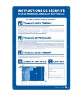 PLAQUE ALU 500X350 CONSIGNE SECURITE