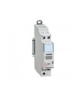 Télérupteur CX³ silencieux avec bornes à vis 1P 16A 250V~ contact 1F - tension commande 230V~ - 1 module LEGRAND 412400