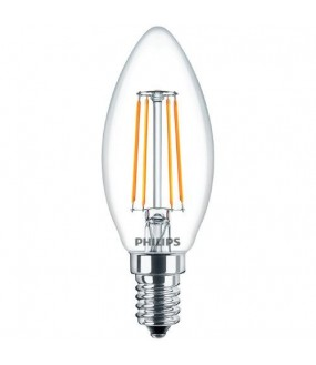 Classic ledcandle flamme non dimmable E14 4-40W 827 2700k claire PHILIPS 587294