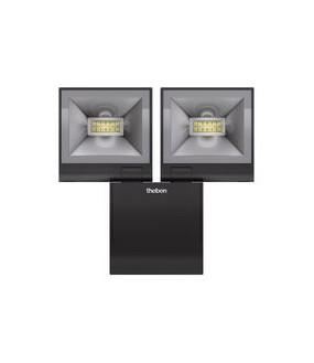 Projecteur S20M LED 20W blanc 2X840 lm 4000 K IP55 230V+ Détecteur 180DEG portée 12 m THEBEN 1020983