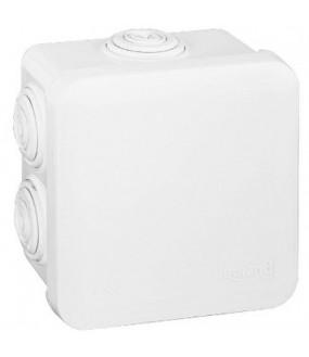 Boîte de dérivation carrée Plexo blanc - 80 x 80 x 45mm LEGRAND 092013