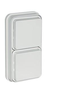Cubyko PC 2V 2P+T encast blanc