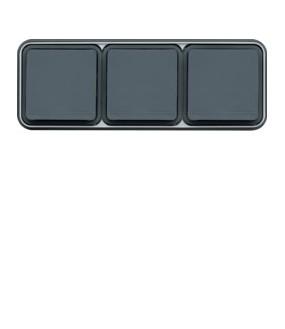 Cubyko PC 3H 2P+T encast gris