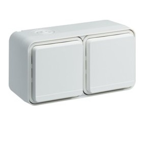 Cubyko PC dble hor. 2P+T blanc