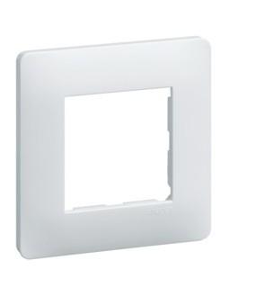 Essensya Plaque 1 poste Blanc