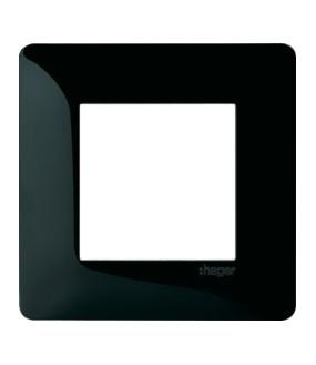 Essensya Plaque 1 poste Noire