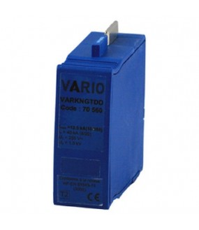 VARKNGTDD Cartouche Parafoudre débrochable Neutre gamme DD Uc 255V, Up 1,5kV, In