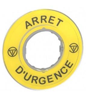 ETIQUETTE ARRET D URGENCE