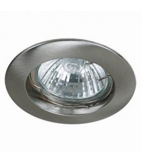 KS1002 SPOTS ROND 50W GU10 PAR16-230V NICKEL SATINE