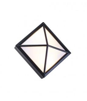 Applique Aluminium croix pour lampe E27 2X18W IP54