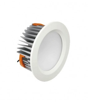 Downlight LED SMD 15W 4000°K 80° D 186x90 encastrement 162mm IP44