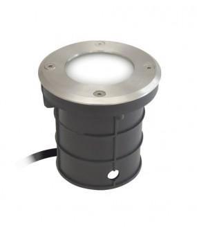 Encastré de sol LED 12v blanc livré avec collerette Ronde cablé 2m50