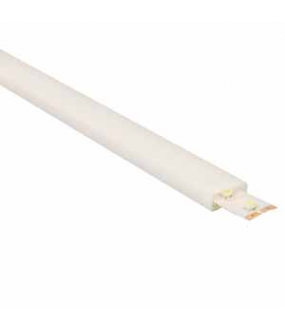 Tube de protection polycarbonate opalin - dim int.12x4,5mm - long 2m