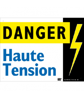 plaque alumetal 'haute tension