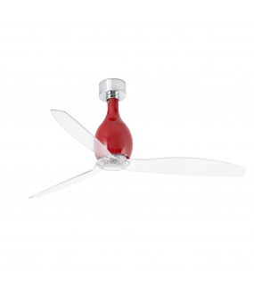 MINI ETERFAN VENTILATEUR DE PLAFOND ROUGE BRILLANT
