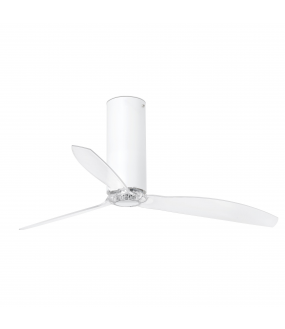 TUBE FAN VENTILATEUR DE PLAFOND BLANC BRILLANT/TRA