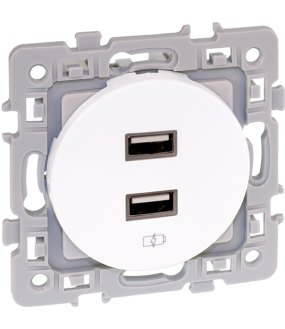 SQUARE chargeur dble USB 5V