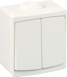 Ouessant Double VV IP55 blanc