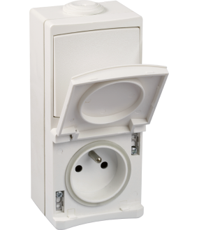 Ouessant PC+VV IP55 blanc