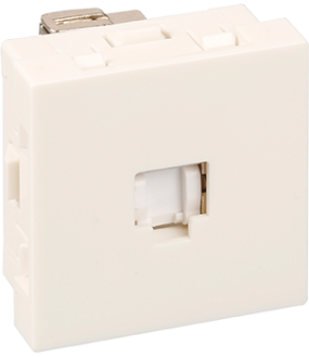 Optima Prise RJ45 cat 6A blanche 45x45