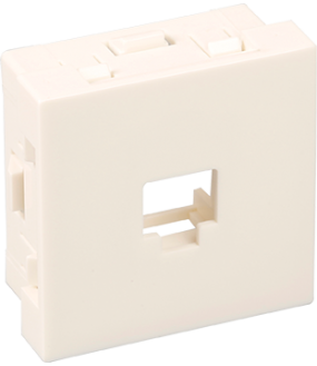 Optima Supp. RJ45 Keystone*TM blche 45x45