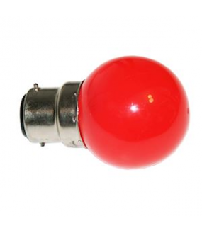 Lampe B22 LED SMD Rouge D45-47mm 230V