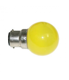 Lampe B22 LED SMD Jaune D45-47mm 230V