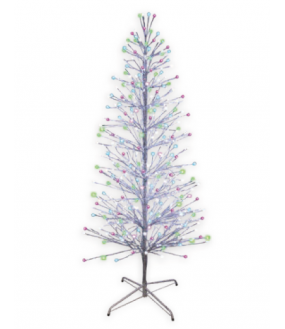 SPRAY- Sapin spray argent H1,80m- 490LED Multico