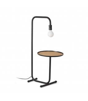 GUEST FLOOR LAMP BLACK 1xE27