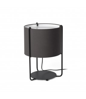 DRUM TABLE LAMP BLACK 1xE27