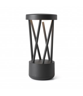 TWIST LED DARK GREY POST LAMP 10W 3000K