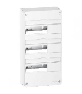 Resi9 - Coffret en saillie Blanc (RAL 9003)- 3 rangée de 13 modules