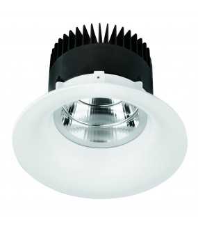 DOWNLIGHT BL BASSE LUM UGR19 IP44 25W 4200K 2200LM