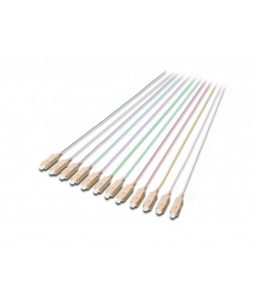 LOT DE 12 PIGTAIL COULEUR SC MULTIMODE OM1 2 METRES