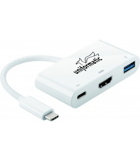 CONVERTISSEUR TYPE C VERS HDMI + USB 3.0 +TYPE C POWER
