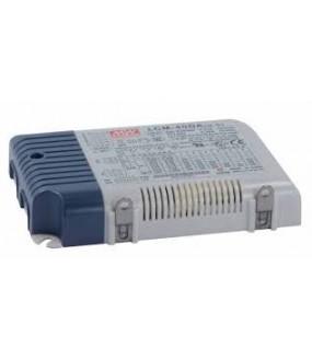 Alimentation stabilisée variable PUSH/DALI Entrée 180-295VAC - Sortie 350/500/600/700/900/1050mA max 42W 123,5x81,5x23mm 0,24Kg