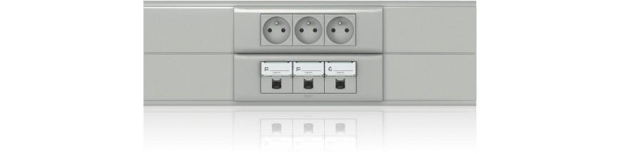 Goulottes PVC d' Installation appareillable 45